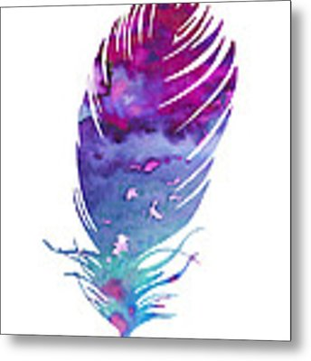 Feather 4 Metal Print