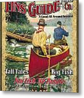 Fins Guide Service Metal Print by JQ Licensing