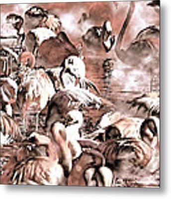 Flamingo Dreams Metal Print by Donna Proctor