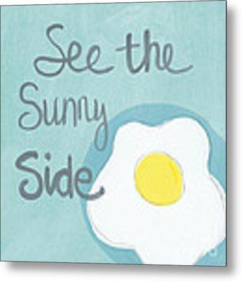 Food- Kitchen Art- Eggs- Sunny Side Up Metal Print