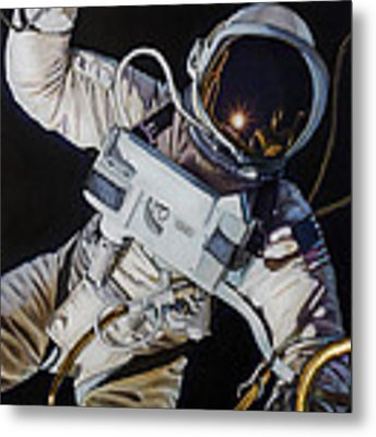 Gemini Iv- Ed White Metal Print by Simon Kregar