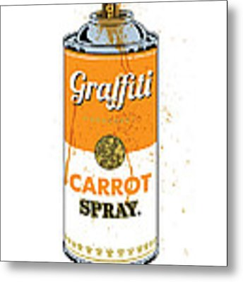 Graffiti Carrot Spray Can Metal Print by Gary Grayson