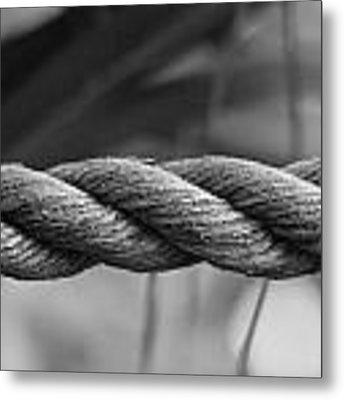 Hemp Boat Rope Metal Print by Debbie Cundy