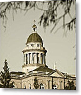 Historic Auburn Courthouse 6 Metal Print by Sherri Meyer