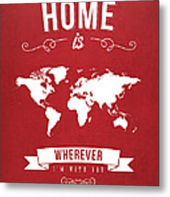 Home - Red Metal Print by Aged Pixel