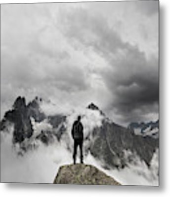 In The Clouds Metal Print by Micha?