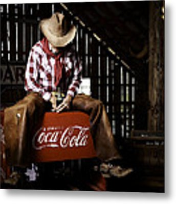 Just Another Coca-cola Cowboy 3 Metal Print by James Sage