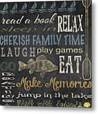 Lake Rules-relax Metal Print