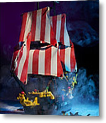 Lego Pirate Ship Metal Print
