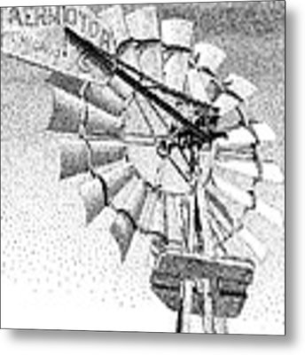 Lehman Windmill Metal Print by Rob Christensen
