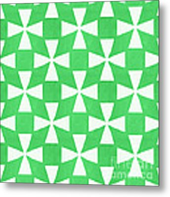 Lime Twirl Metal Print
