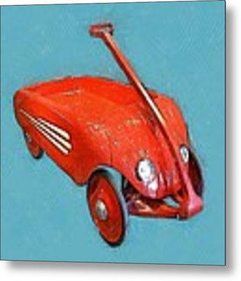Little Red Wagon Metal Print