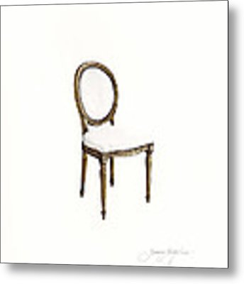 Louis Style Chair Metal Print by Jazmin Angeles