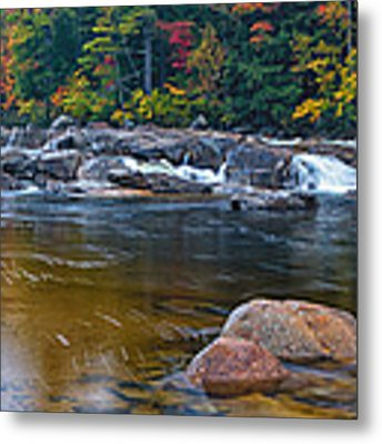 Lower Falls On The Swift River Metal Print by Jeff Sinon