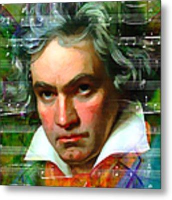 Ludwig Van Beethoven 20140122v2 Metal Print by Wingsdomain Art and Photography