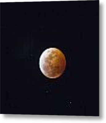 Luna Eclipse Metal Print by Debbie Cundy