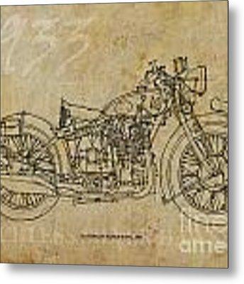 Matchless Silver Hawk 1933 Metal Print by Drawspots Illustrations