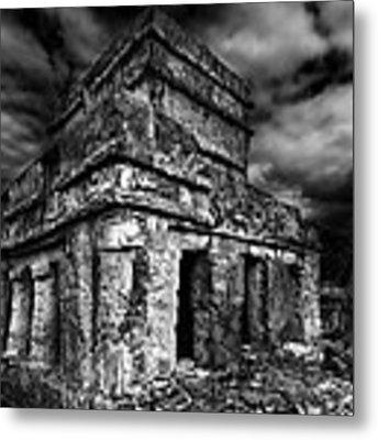 Mayan Building Metal Print by Julian Cook