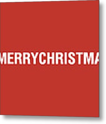Merry Christmas Hashtag Metal Print