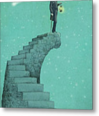 Moon Steps Metal Print by Eric Fan
