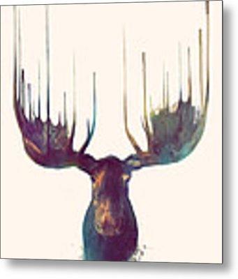 Moose Metal Print by Amy Hamilton