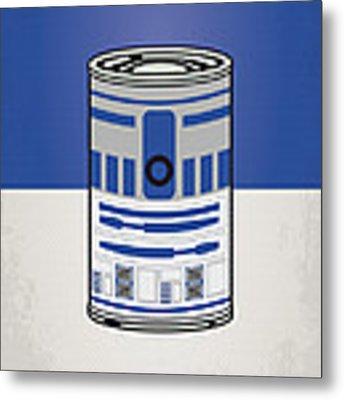 My Star Warhols R2d2 Minimal Can Poster Metal Print by Chungkong Art