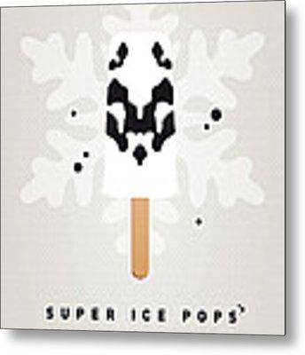 My Superhero Ice Pop - Rorschach Metal Print