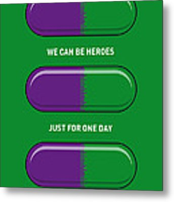 My Superhero Pills - The Hulk Metal Print by Chungkong Art