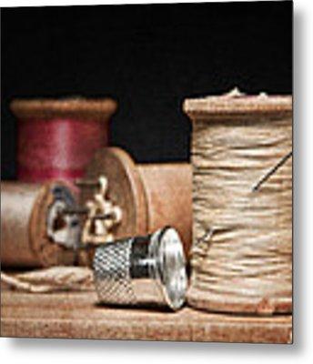 Needle And Thread Metal Print by Tom Mc Nemar