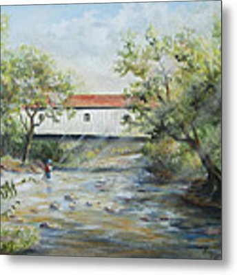 New Jersey's Last Covered Bridge Metal Print by Katalin Luczay