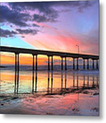 Ocean Beach Sunset Metal Print by Nathan Rupert