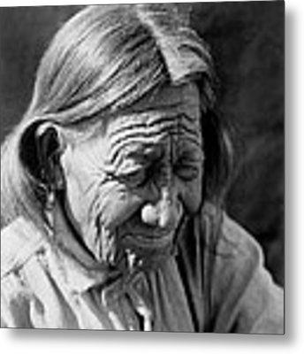 Old Arapaho Man Circa 1910 Metal Print