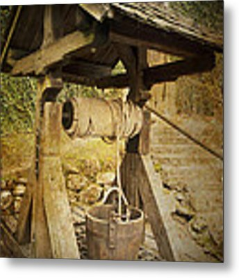 Old Draw Well Metal Print by Heiko Koehrer-Wagner