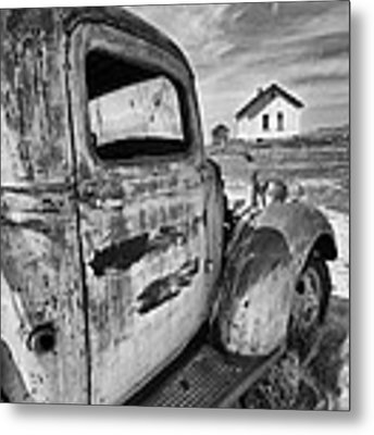 Old Truck 2 Metal Print by Angela Moyer
