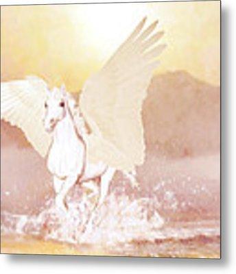 Pegasus   Metal Print by Valerie Anne Kelly