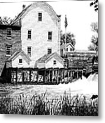 Phelps Mill Metal Print by Rob Christensen