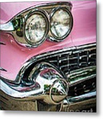 Pink Power Metal Print