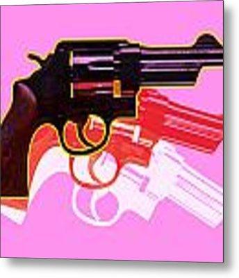 Pop Handgun Metal Print by Gary Grayson