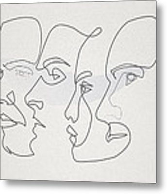 Profiles Metal Print by Quibe Sarl