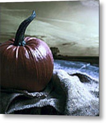 Pumpkin At Sunset Metal Print by Amanda Elwell