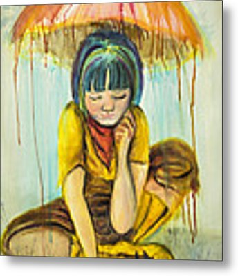Rain Day  Metal Print by Angelique Bowman
