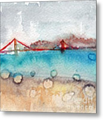 Rainy Day In San Francisco  Metal Print by Linda Woods