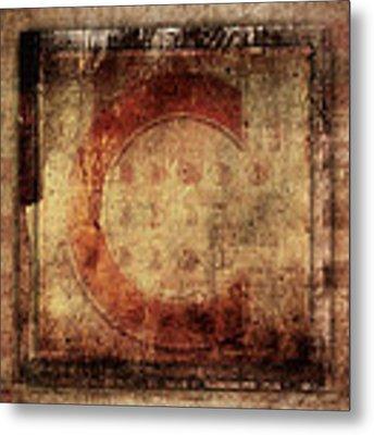Red C Squares Metal Print