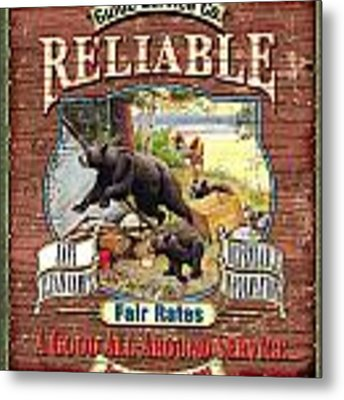 Reliable Guide Service Sign Metal Print