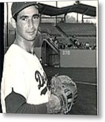 Sandy Koufax Photo Portrait Metal Print by Gianfranco Weiss