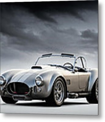 Silver Ac Cobra Metal Print by Douglas Pittman