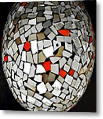 Silver Egg Metal Print by Eleni Mac Synodinos