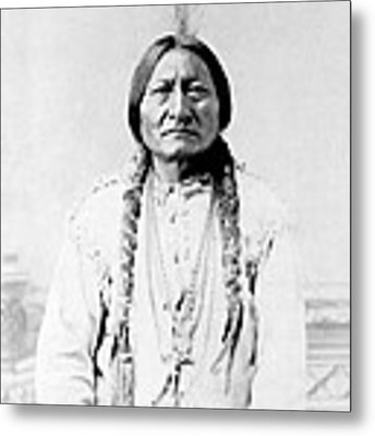 Sioux Chief Sitting Bull Metal Print by War Is Hell Store