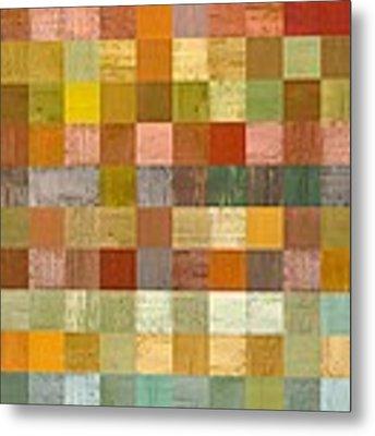 Soft Palette Rustic Wood Series Lll Metal Print