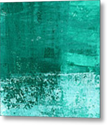 Soothing Sea - Abstract Painting Metal Print by Linda Woods